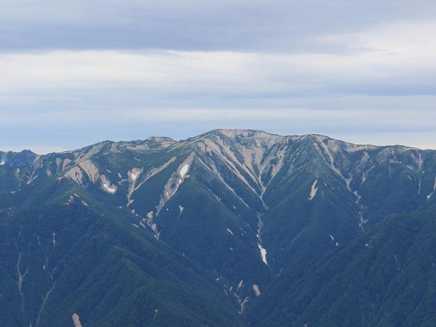 野口五郎岳のアップ