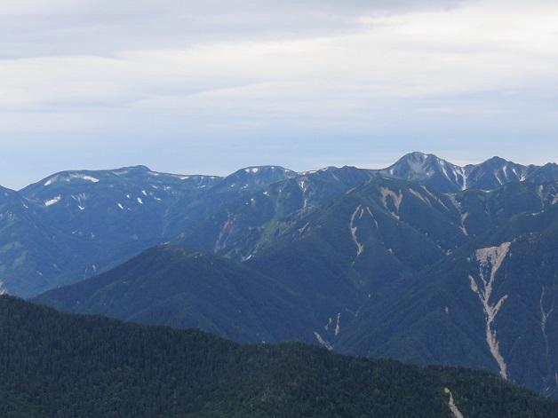 双六岳や笠ヶ岳