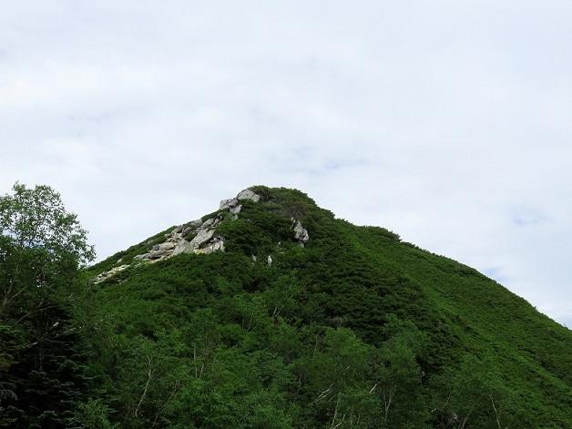 餓鬼岳小屋からの餓鬼岳の景色