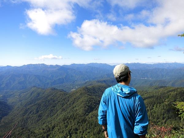 谷川岳方面が絶景