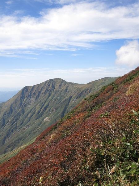 茂倉岳への稜線