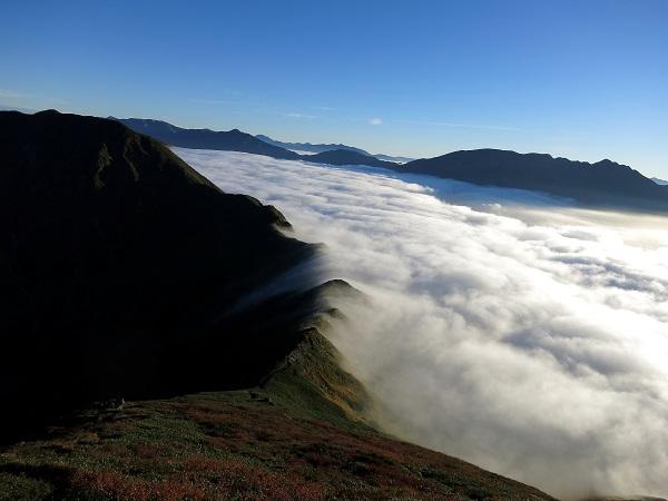 武能岳への登山ルート