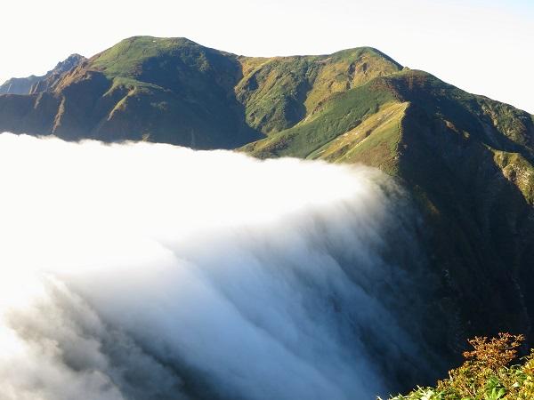 雲海が川のように流れ