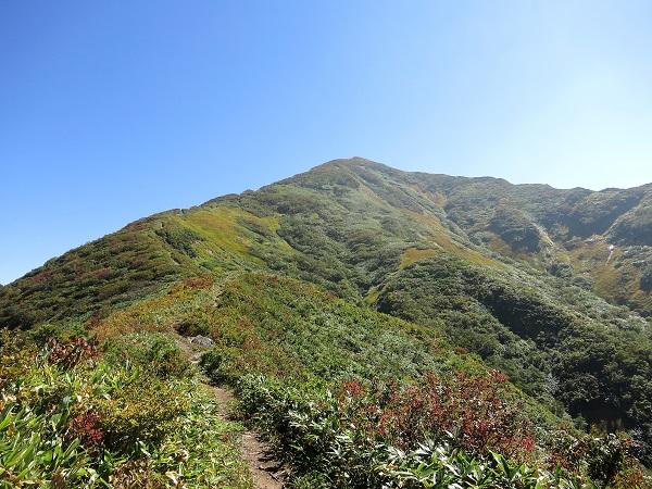 朝日岳への登り