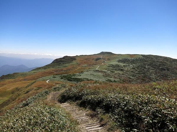 朝日岳ジャンクションピークなだらかな道のり
