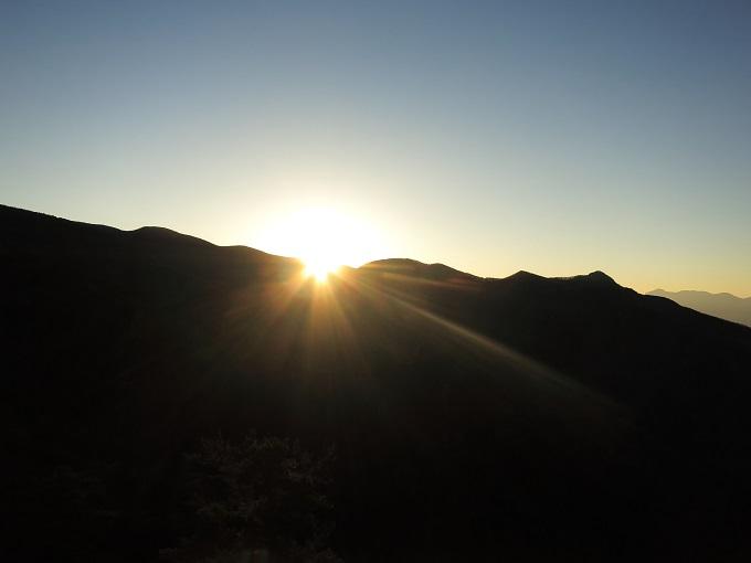 十文字小屋からの夕日