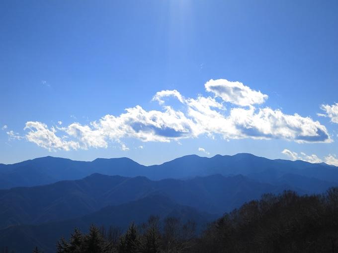 両神山の山頂から奥多摩の山並み