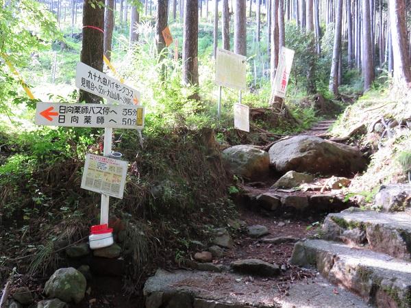 日向薬師大山登山口九十九曲ハイキングコース