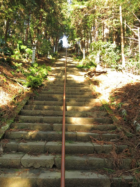 最乗寺の奥之院への経路