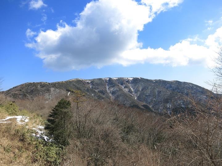 明神ヶ岳の山頂優しい山容