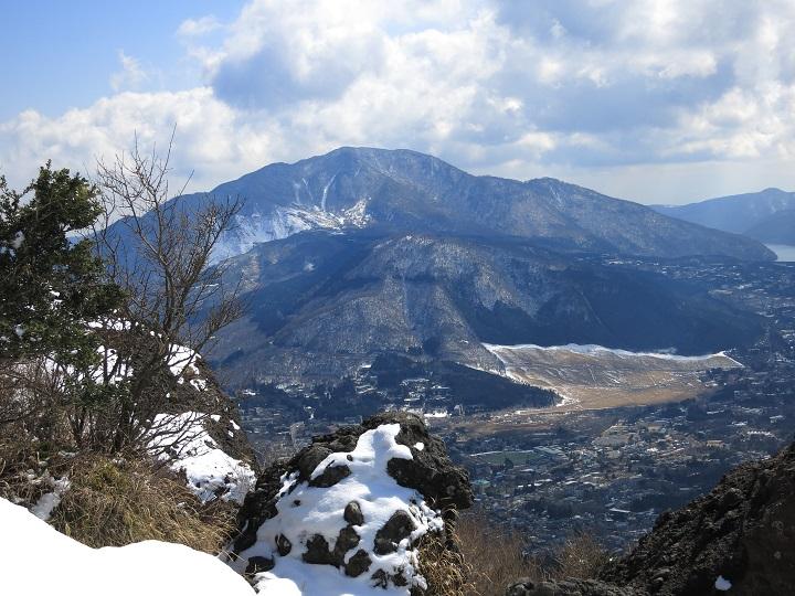 大涌谷と箱根の最高峰である神山