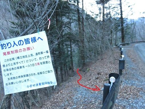 小菅川林道と合流