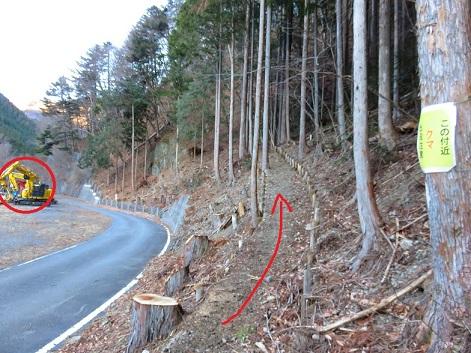 白糸の滝追分(大菩薩嶺方面)登山口