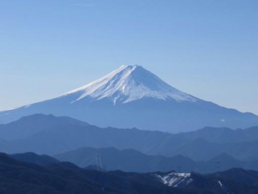 大菩薩峠から大菩薩嶺の手前景色