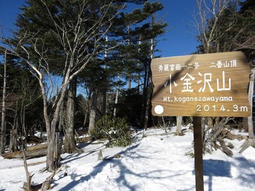 小金沢山秀麗富嶽十二景の二番山頂