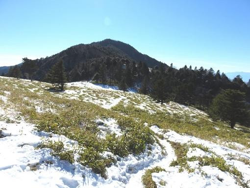 狼平周辺からの小金沢山方面の景色