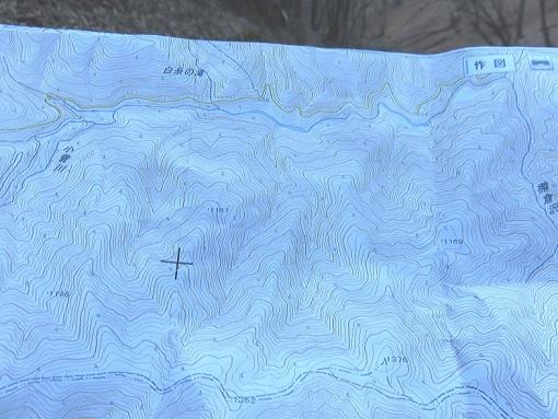狩場巡視道付近地形図