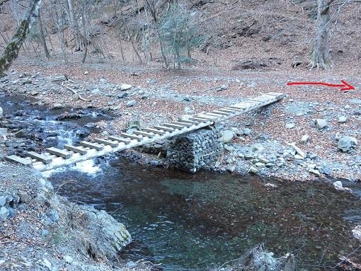 小菅川木の橋