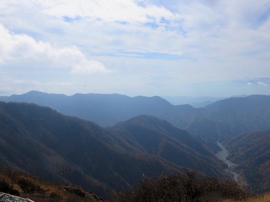 蛭ヶ岳の山頂からの景色