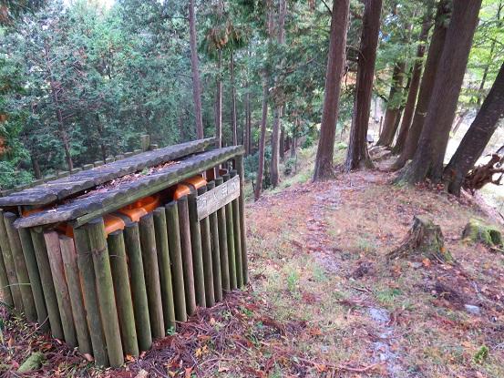 玄倉・丹沢湖方面のルート上にある防火水槽