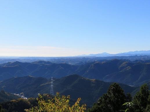 天覚山からの奥武蔵の景色