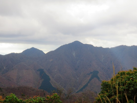 袖平山丹沢主稜の山並