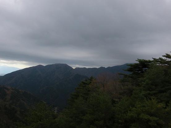 大山とミズヒノ頭悪天