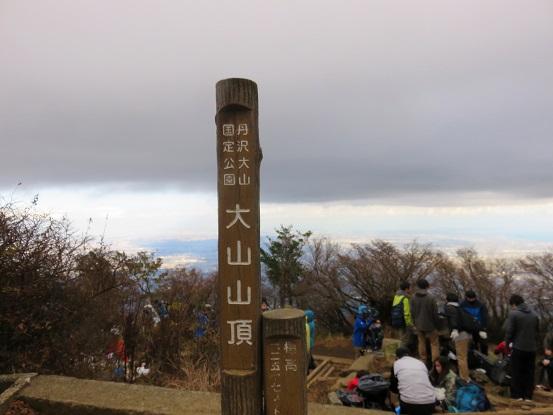 大山の山頂標高1,252m