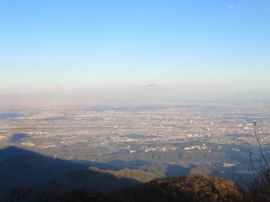 大山の山頂からの相模湾眺め