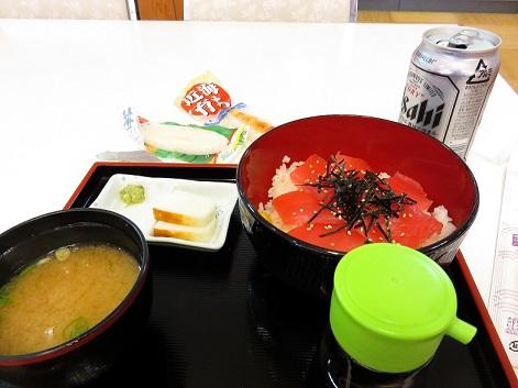 那智勝浦天然温泉熊野の郷でマグロ丼