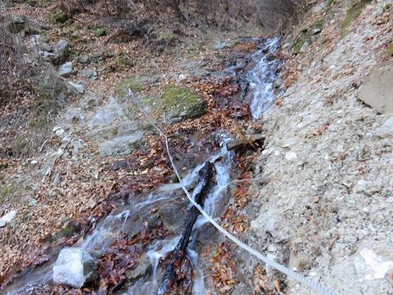 雁坂峠への登山ルート一番の核心部