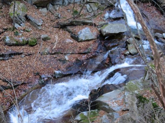 雁坂峠沢沿い歩きのルート