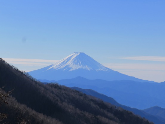 雁坂峠方面から見る富士山
