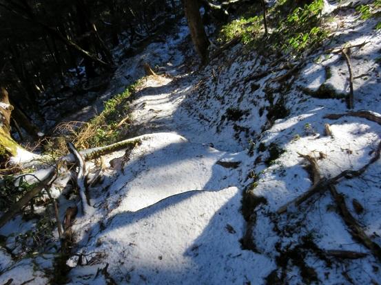 雁坂峠から雁坂小屋までのルート