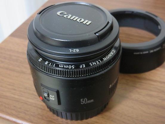 Canon単焦点レンズEF50mm F1.8交換レンズ