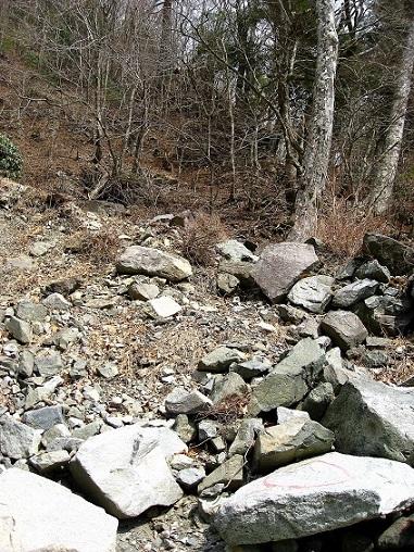 蛭ヶ岳南陵落石