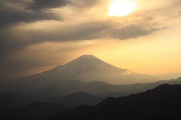 丹沢山から塔ノ岳富士山の大展望