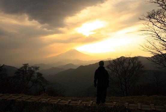丹沢主脈縦走路富士山の大展望