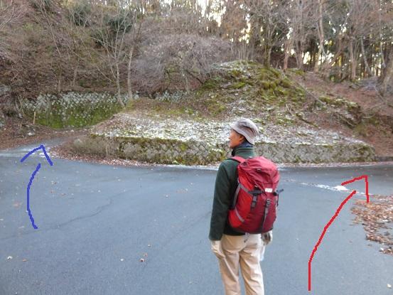 西丹沢自然教室は赤矢印方面(右)へ進む