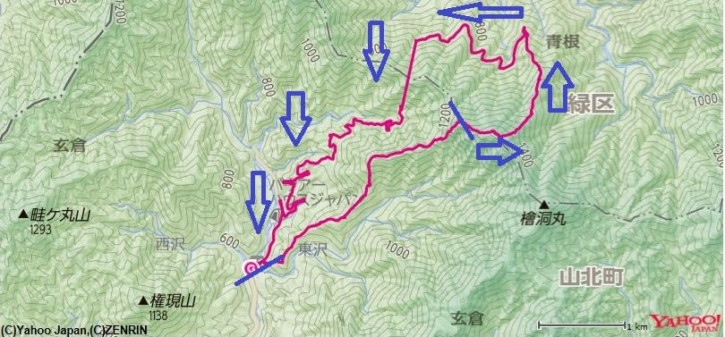 大笄南西尾根~大笄~ヤタ尾根~犬越路トンネルの登山ルート
