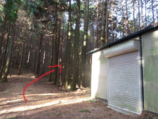箱根マニアックルートである鳥手山赤矢印方面(右)に進む