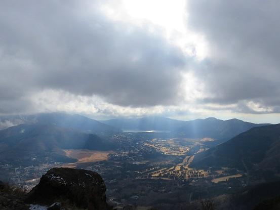 金時山からの芦ノ湖方面の景色