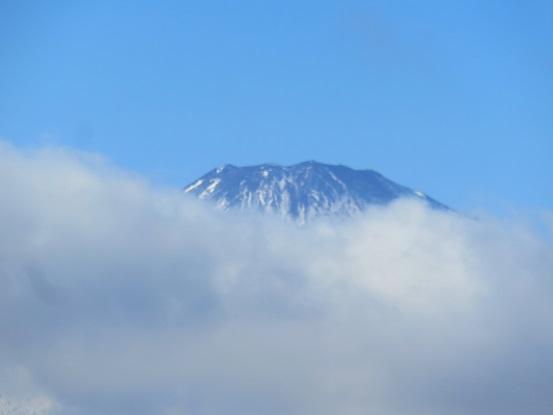 富士山頂付近