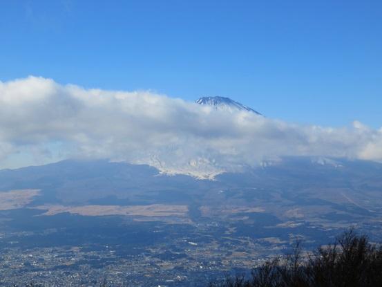 富士山に雲