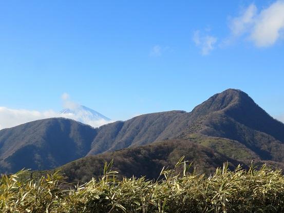 富士山と金時山のコラボ