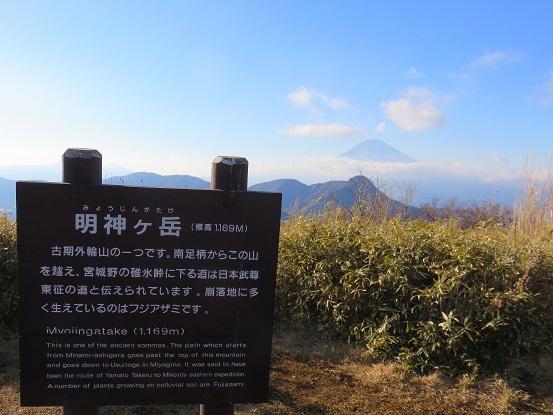 明神ヶ岳から見る富士山・神山
