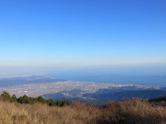 明神ヶ岳からの相模湾の景色