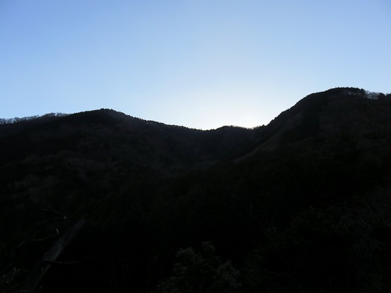 和留沢コースから振り返っての明星ヶ岳