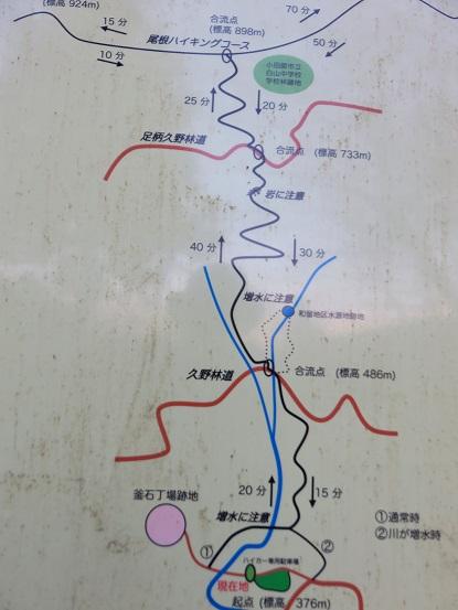 簡単な和留沢コースの地図
