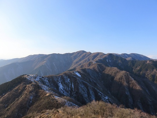 丹沢山景色